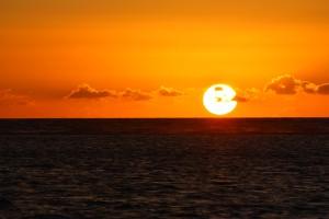 západ slnka na ostrove Maurícius (február 2013)